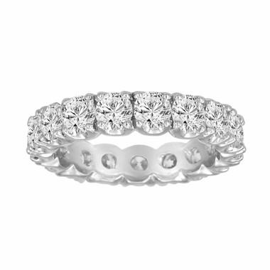 Wedding & Anniversary Eternity Diamond Band 2.85 Carat Certified 14K White Gold Handmade