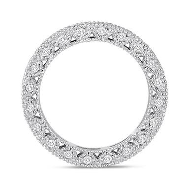 Platinum Eternity Diamond Wedding Band 0.73 Carat Vintage Style Unique