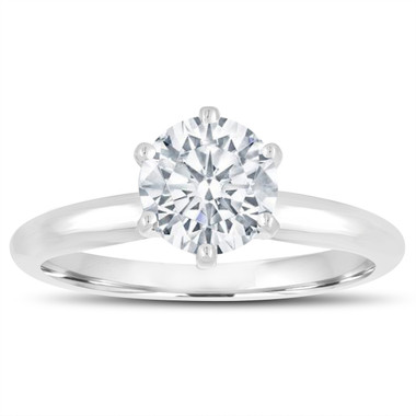 GIA Certified Diamond Solitaire Engagement Ring 0.70 Carat 14K White Gold Handmade