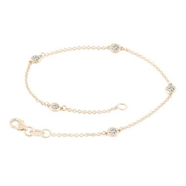 Diamonds By The Yard Bracelet 0.25 Carat 14k Yellow Gold Handmade