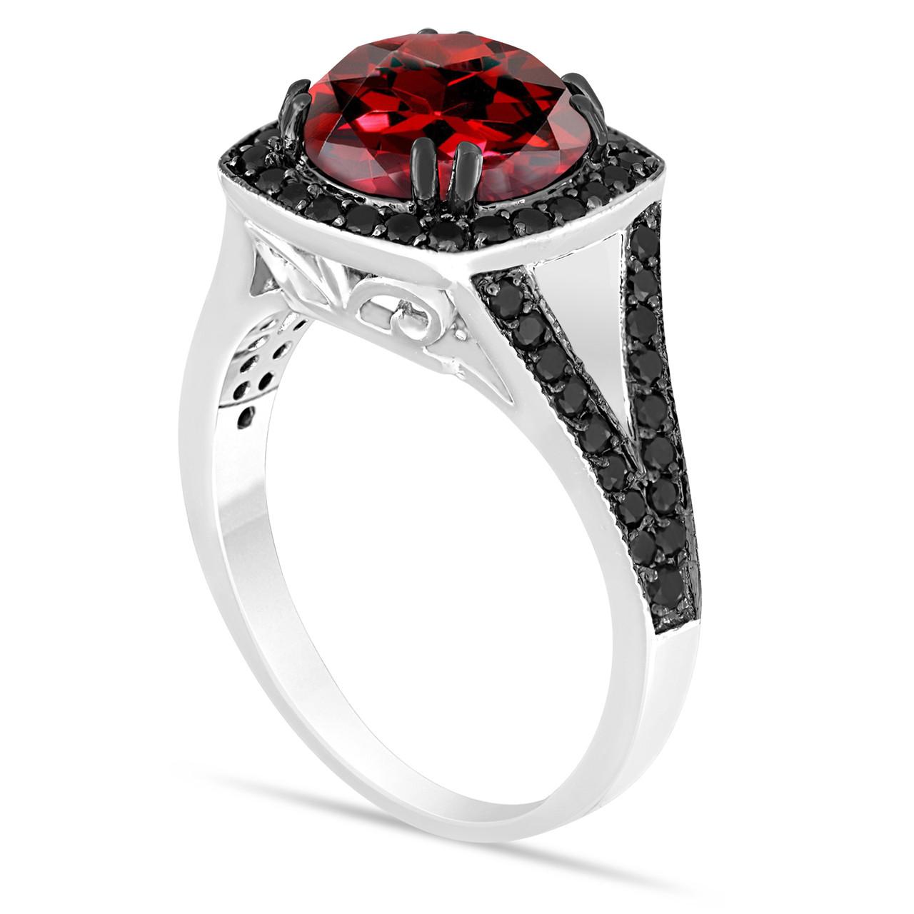 Fine Jewelry Black Diamond Engagement Ring 3.34 Ct Diamond Silver Ring New Handmade !! Diamond