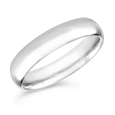 5 mm Mens Wedding Band, Wedding Ring, Anniversary Band 14K White Gold Handmade