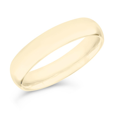 5 mm Wedding Band, Mens Wedding Ring, Anniversary Band 14K Yellow Gold Handmade
