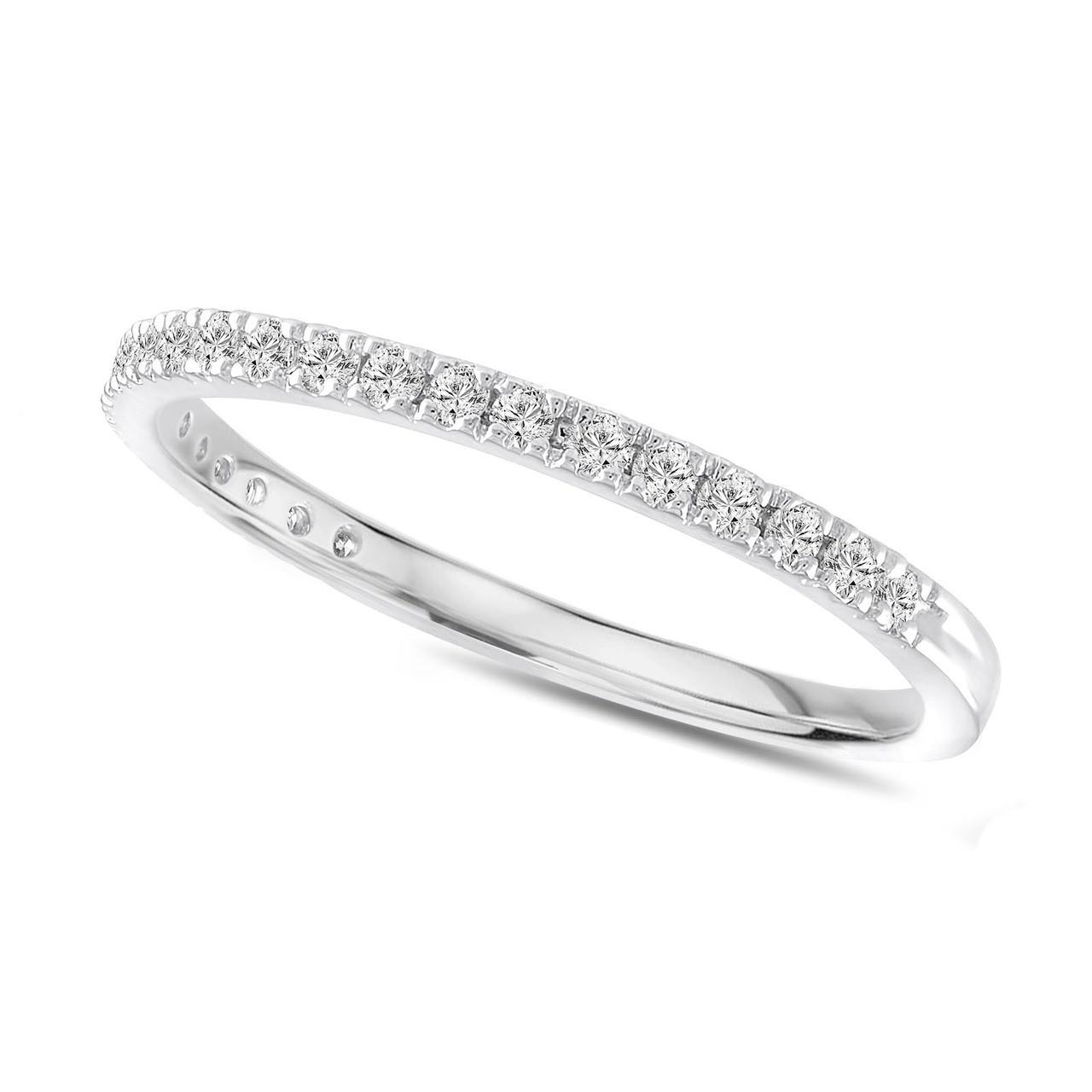 Pave Wedding Band.Pave Diamond Wedding Ring Platinum Thin Wedding Band Half Eternity Band 0 25 Carat Anniversary Ring Stackable Band Handmade Unique