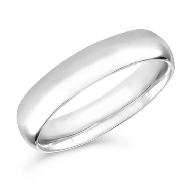 Platinum Wedding Band, Mens Wedding Ring, Womens Anniversary Band 6 mm Handmade