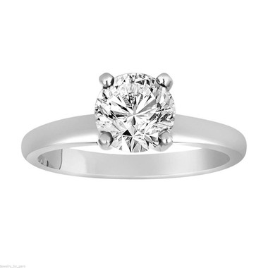 Solitaire Diamond Engagement Ring, Platinum Bridal Ring, VS1 GIA Certified 1.01 Carat Handmade