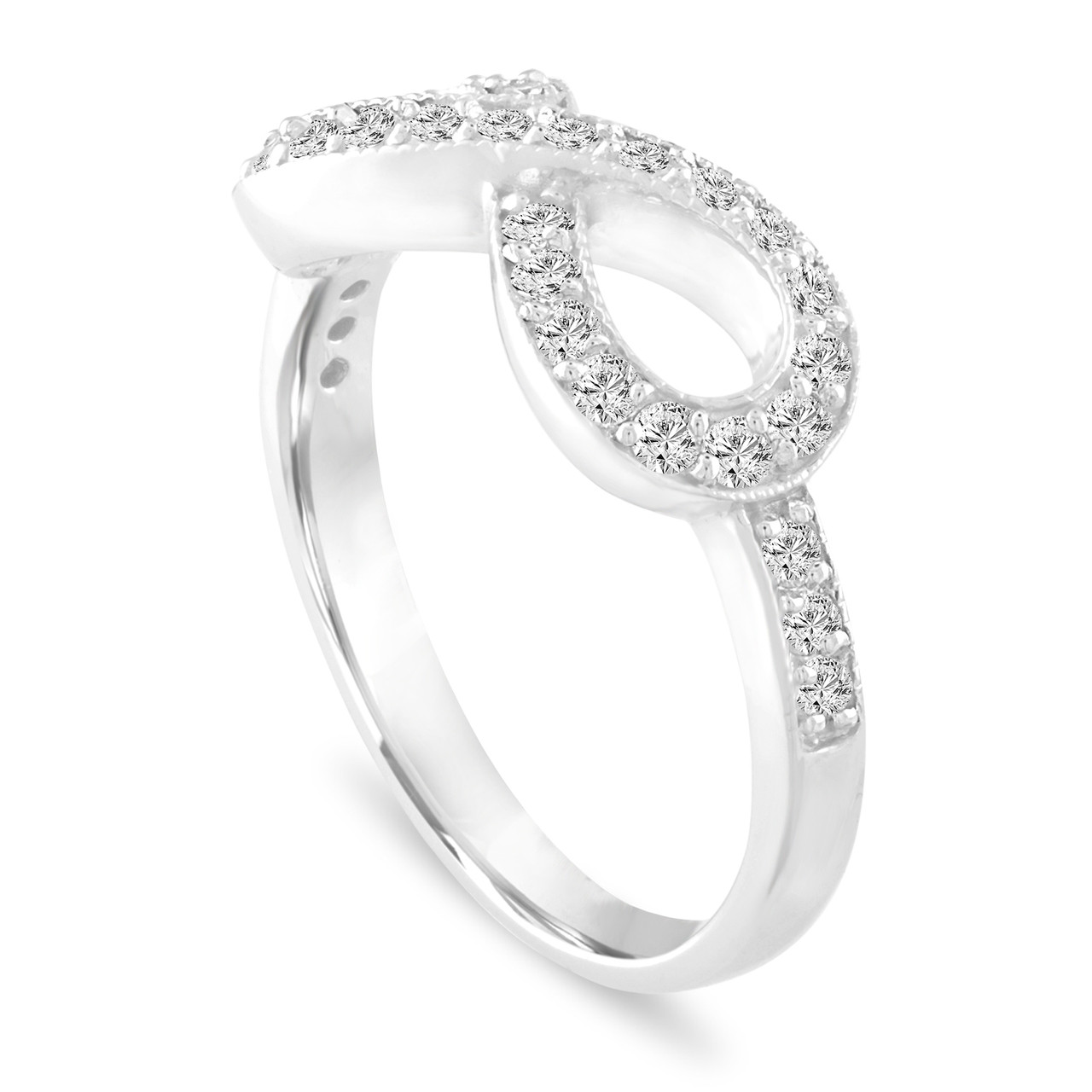 d31c53bed7aab Platinum Infinity Diamond Ring, Infinity Wedding Band, Pave Anniversary  Diamond Ring, 0.50 Carat Handmade