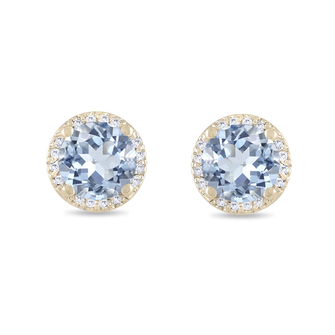 8a62305ca76f Aquamarine Stud Earrings