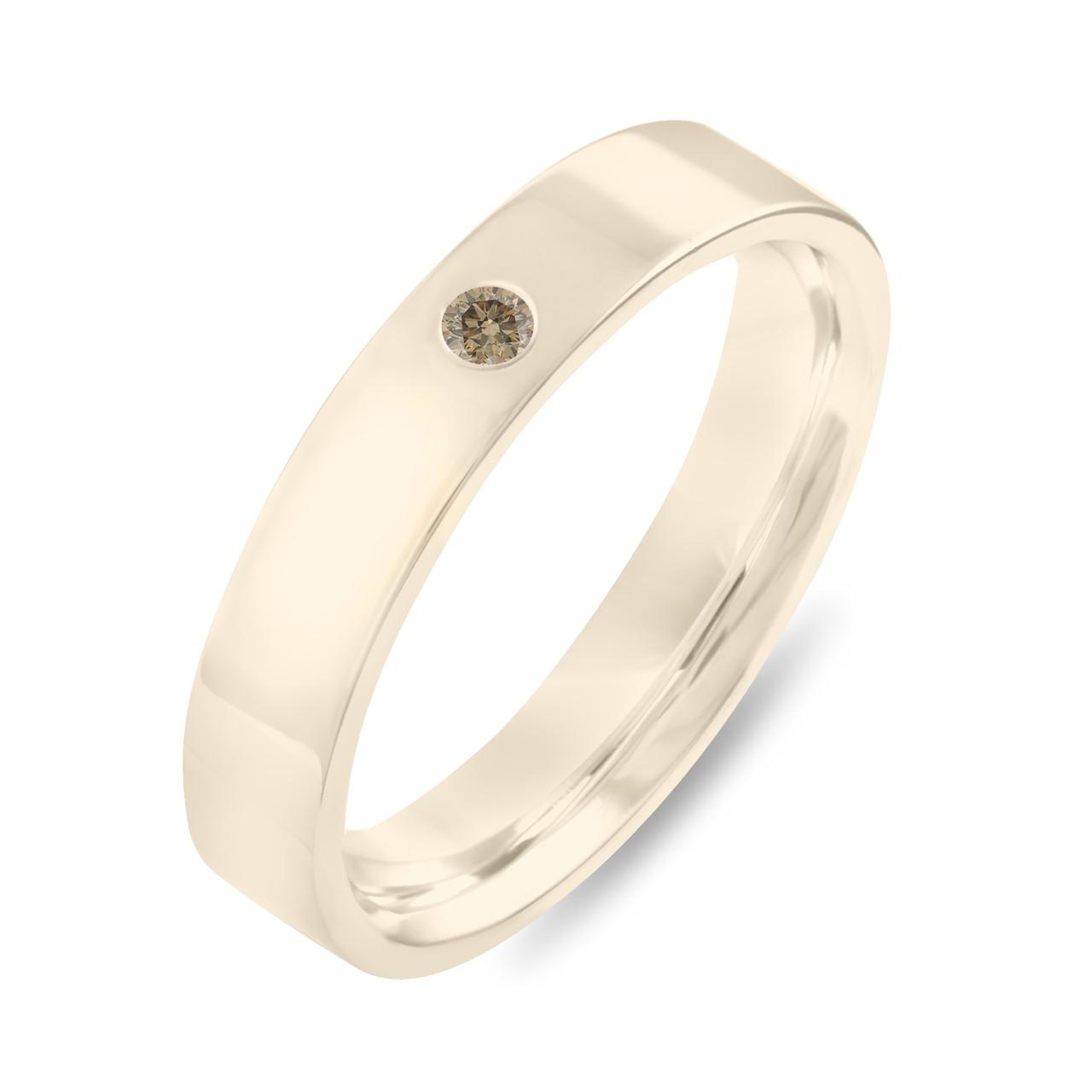 Gold Diamond Wedding Band Champagne Diamond Wedding Ring Womens