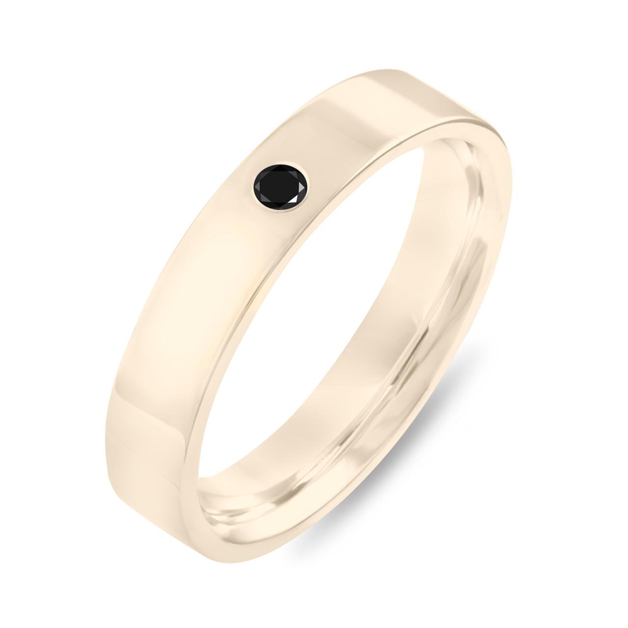 Black Diamond Wedding Band Yellow Gold Diamond Wedding Ring
