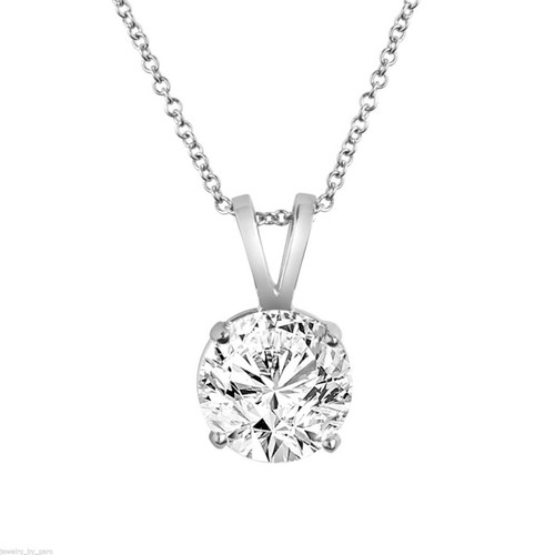 Solitaire Diamond Pendant, 1.01 Carat Diamond Necklace, Solitaire Pendant, GIA Certified 14K White Gold or Yellow Gold Handmade