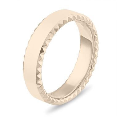 Mens Wedding Band 14k Yellow Gold, Gold Wedding Band, Womens Wedding Ring, 6 mm Matte Finish Wedding Band, Unique