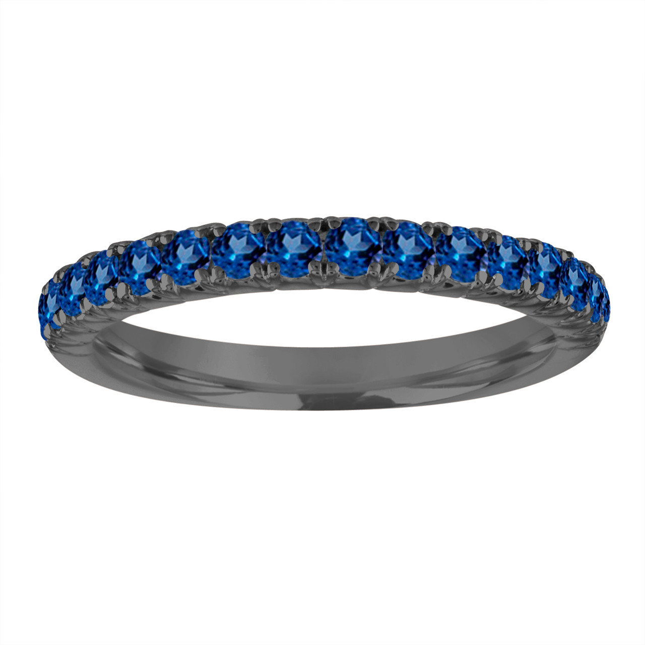 Handcrafted In The Usa: Blue Shappire Black Wedding Band At Reisefeber.org