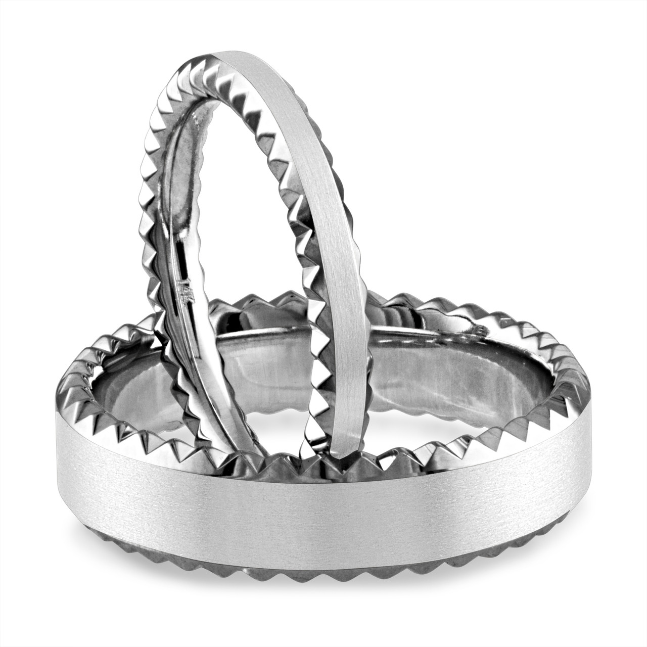 a4fb4ee0fa240a His and Hers Wedding Bands, Matching Wedding Rings, Couple ...