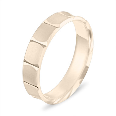 Wedding Band Yellow Gold, Mens Gold Wedding Band , Womens Wedding Ring, 5 mm Wedding Band, Unique