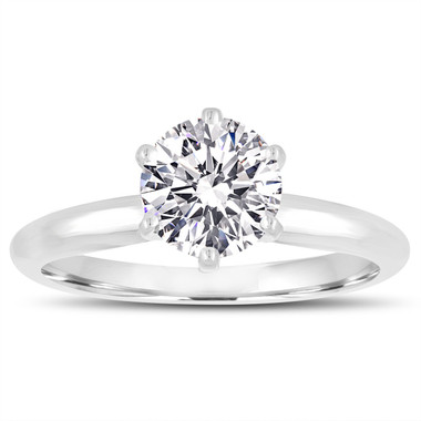 Internally Flawless D Color Diamond Solitaire Engagement Ring Platinum GIA Certified 0.50 Carat Handmade