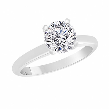 Internally Flawless D Color Solitaire Diamond Engagement Ring Platinum GIA Certified 0.50 Carat Handmade