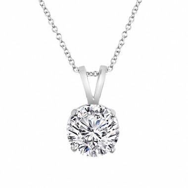 Internally Flawless D Color Diamond Pendant Necklace, Platinum Solitaire Pendant, 0.50 Carat Handmade GIA Certified