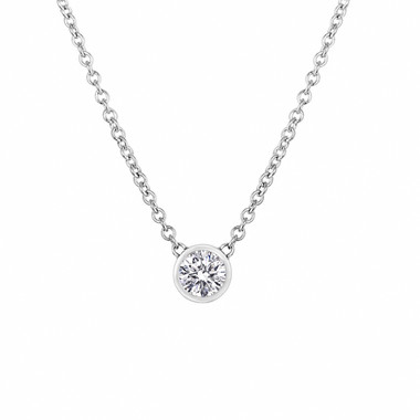 D Color Internally Flawless Diamond Pendant Necklace, Platinum Solitaire Pendant, Diamond By The Yard 0.50 Carat Handmade GIA Certified