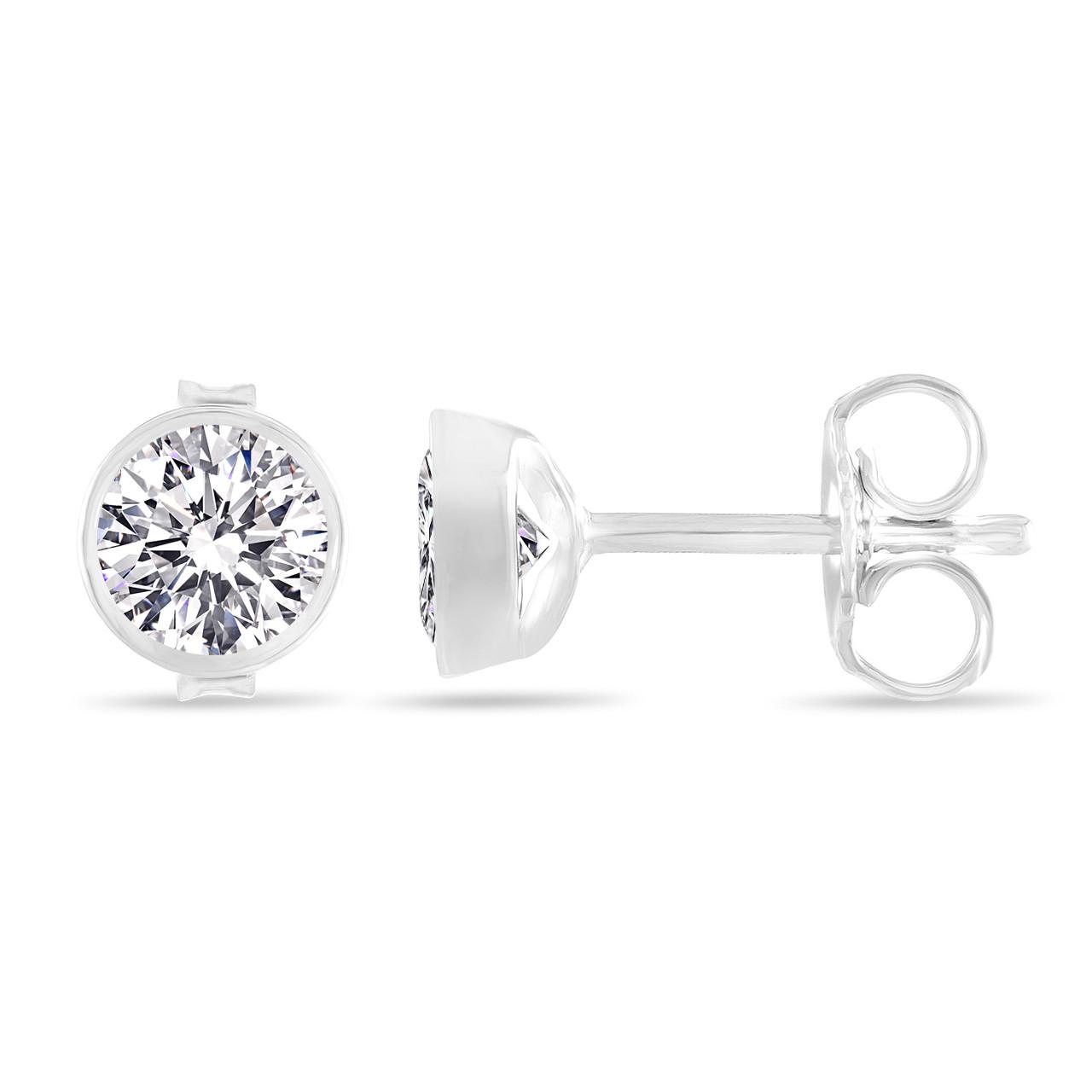 Platinum D Color Internally Flawless Diamond Stud Earrings