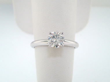 Solitaire Diamond Engagement Ring, Wedding Ring 0.50 Carat GIA Certified 14K White Gold Handmade