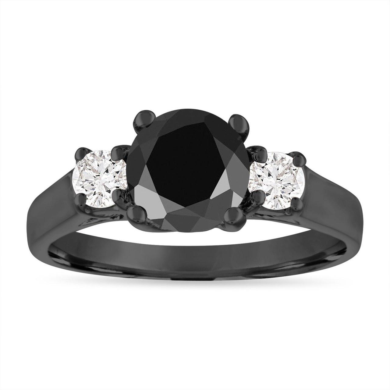 vintage black diamond engagement ring 200 carat black