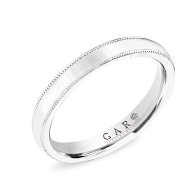 3 mm Milgrain Wedding Band, Women's Wedding Ring, Anniversary Ring, 14K White Gold or Rose Gold or Yellow Gold Handmade