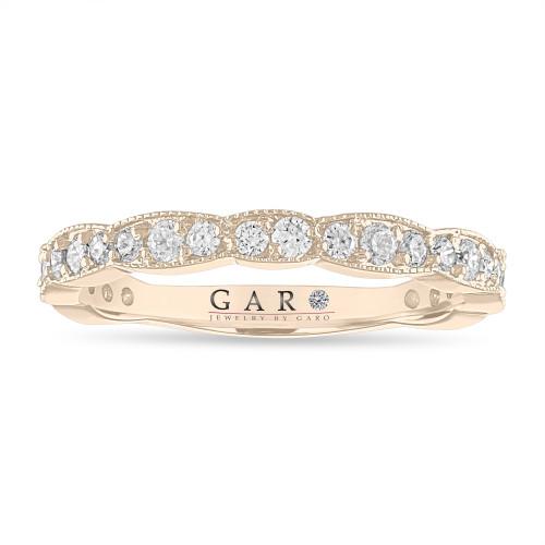 0.54 Carat Diamond Wedding Band, Half Eternity Wedding Ring, Anniversary Ring, 18k Yellow Gold, White Gold or Rose Gold or Black Gold, Handmade