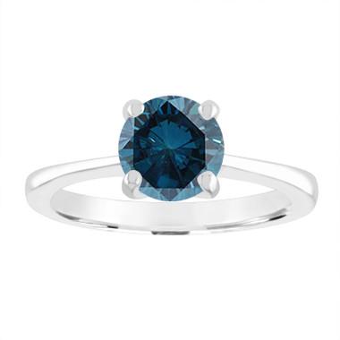 VS2 1.20 Carat Blue Diamond Solitaire Engagement Ring Platinum Certified Unique Galley Designs