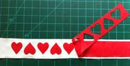 Flipped Hearts Cutout Trim