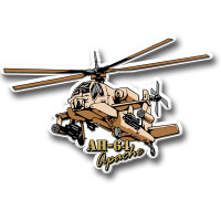 AH-64 Apache Attack Helicopter Magnet by Classic Magnets, Collectible Souvenirs Made in the USA