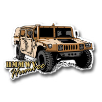 HMMWV Humvee Magnet by Classic Magnets, Collectible Souvenirs Made in the USA