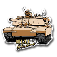 M1A1 Abrams Tank Magnet by Classic Magnets, Collectible Souvenirs Made in the USA