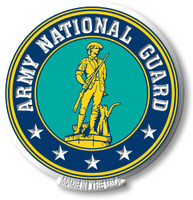 Army National Guard Crest Magnet by Classic Magnets, Collectible Souvenirs Made in the USA