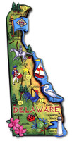 Delaware Artwood State Magnet Collectible Souvenir by Classic Magnets
