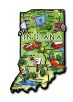 Indiana Artwood State Magnet Collectible Souvenir by Classic Magnets