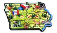 Iowa Artwood State Magnet Collectible Souvenir by Classic Magnets