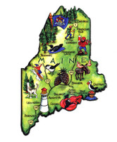 Maine Artwood State Magnet Collectible Souvenir by Classic Magnets