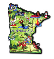 Minnesota Artwood State Magnet Collectible Souvenir by Classic Magnets