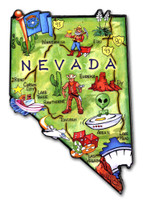 Nevada Artwood State Magnet Collectible Souvenir by Classic Magnets