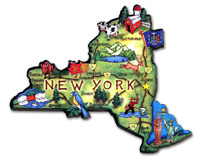 New York Artwood State Magnet Collectible Souvenir by Classic Magnets