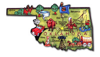 Oklahoma Artwood State Magnet Collectible Souvenir by Classic Magnets