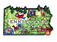 Pennsylvania Artwood State Magnet Collectible Souvenir by Classic Magnets