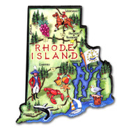 Rhode Island Artwood State Magnet Collectible Souvenir by Classic Magnets