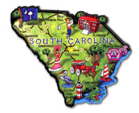 South Carolina Artwood State Magnet Collectible Souvenir by Classic Magnets