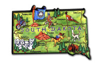 South Dakota Artwood State Magnet Collectible Souvenir by Classic Magnets