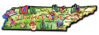 Tennessee Artwood State Magnet Collectible Souvenir by Classic Magnets