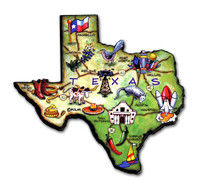Texas Artwood State Magnet Collectible Souvenir by Classic Magnets