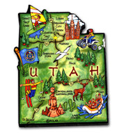 Utah Artwood State Magnet Collectible Souvenir by Classic Magnets