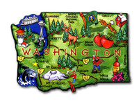 Washington Artwood State Magnet Collectible Souvenir by Classic Magnets